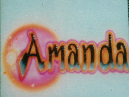 Airbrush Design Name Pink - A0093