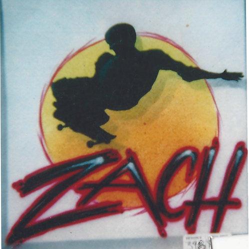 Airbrush Design Name Skateboarder - A0038