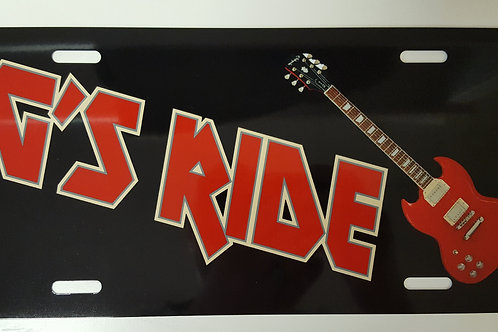 Printed Auto Tag - Guitar Solid Background