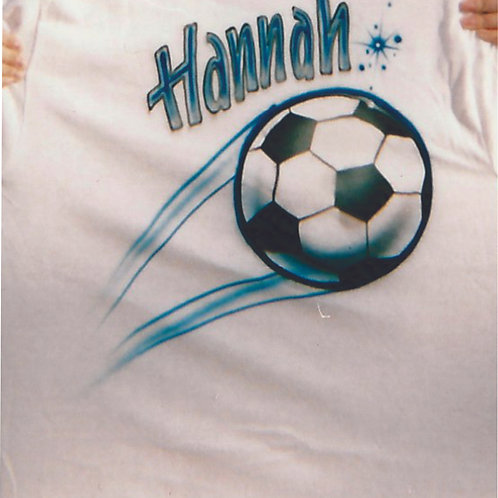 Airbrush Design Single name soccer - A0020