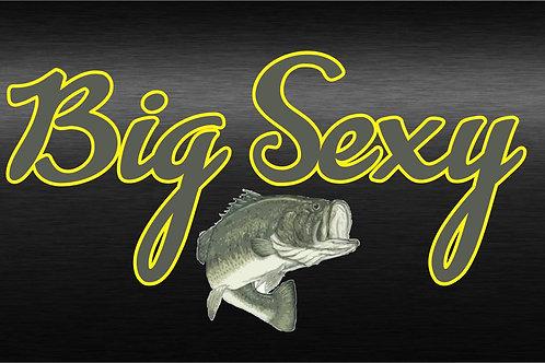 Printed Auto Tag - Big Sexy Fishing