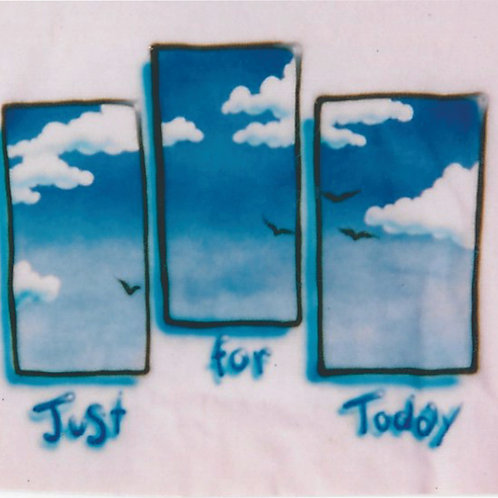 Airbrush Design Just for Today Recovery- A0036