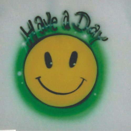 Airbrush Design Have a Day Smiley Face - A0079