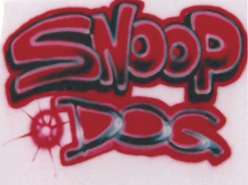 Airbrush Design Red Lettering - A0033