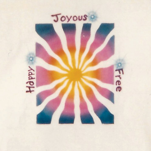 Airbrush Design Happy Joyous Free Colors - A0095