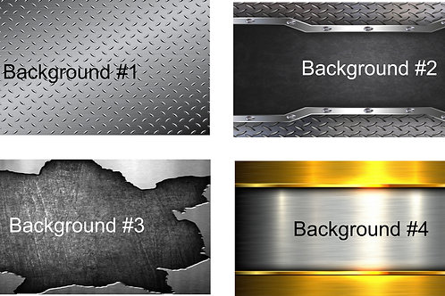 Metal Background You Design Auto Tag