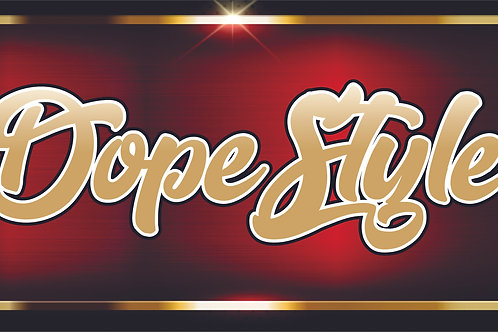 Printed Auto Tag - Dope Style Red Gold