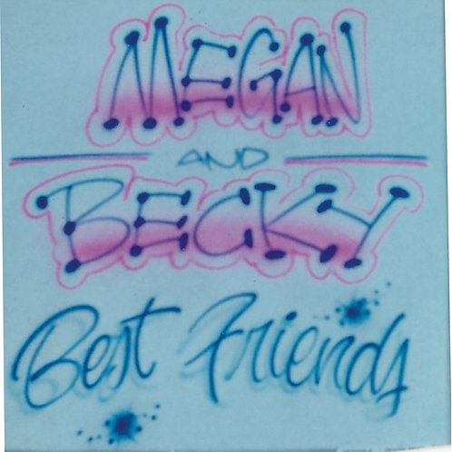 Airbrush Design Best Friends - A0028