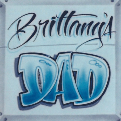 Airbrush Design Dad Name - A0083