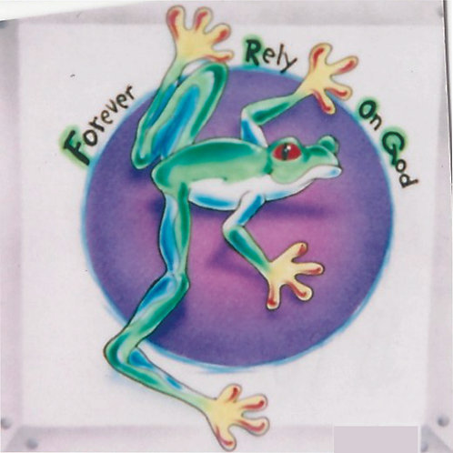 Airbrush Design FROG Forever Rely on God- A0060