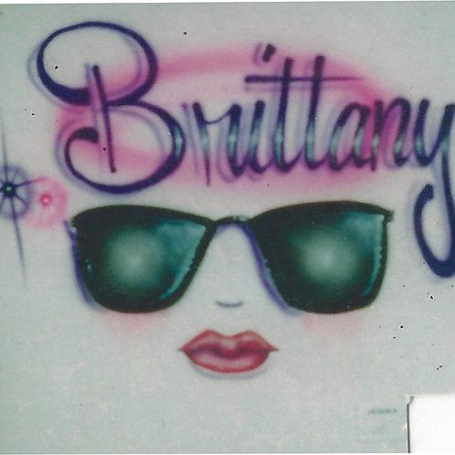 Airbrush Design Name Face Cool Sunglasses - A0076