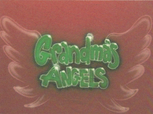 Airbrush Design Grandma's Angels Names Family- A0069