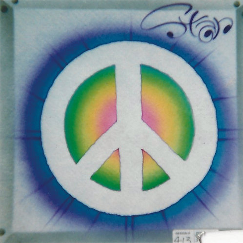 Airbrush Design Name Peace Sign Symbol Rainbow - A0088