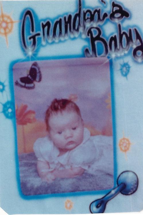 Airbrush Design Transfer Photo Grandma's Baby Butterflies - A0102