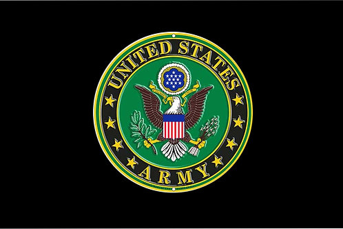 Printed Auto Tag - US Army