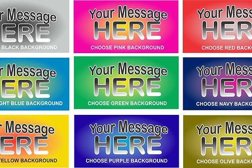 Multicolor Highlight You Design Auto Tag