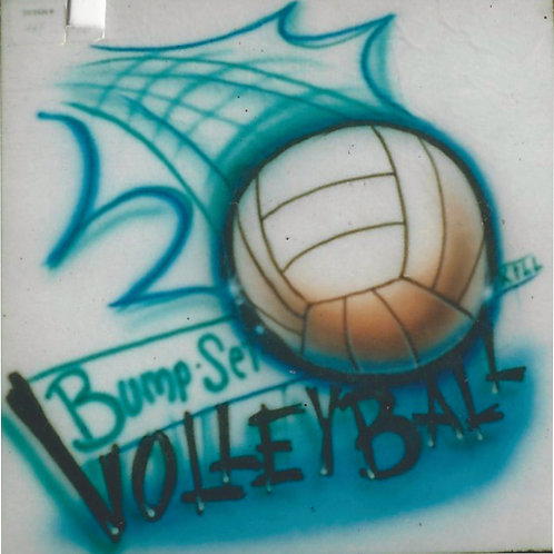 Airbrush Design Volleyball - A0046