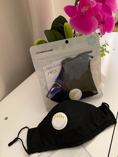 Protective reusable cotton mask with two filters