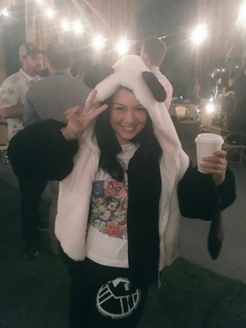 Ming-Na in her panda jacket at the Agents of S.H.I.E.L.D Season 5 wrap party