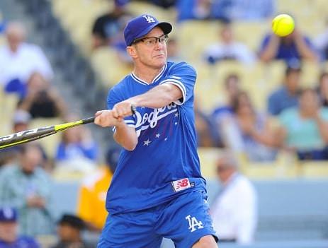 Clark Gregg hitting the baseball