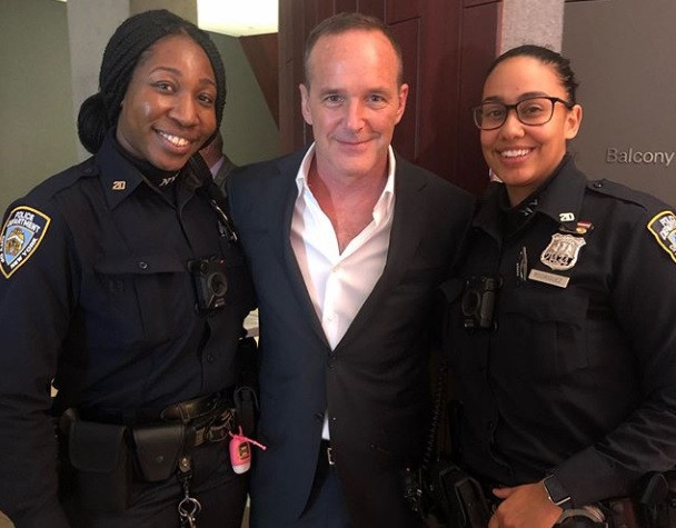 Clark Gregg w/ Police at ABC Upfronts