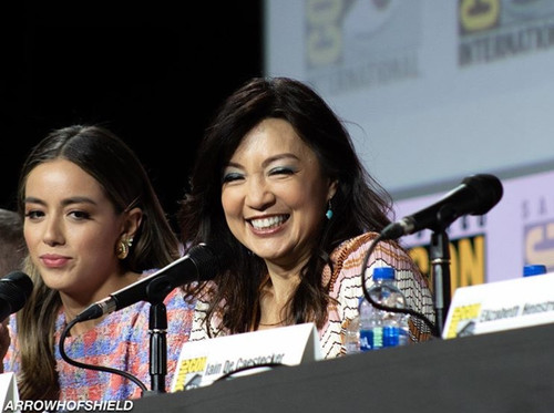 Ming-Na at the 2019 San Diego Comic Con