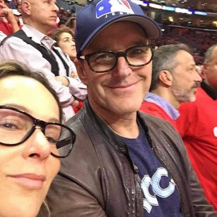 Clark and Jen at Baseball Game