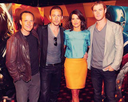 Clark, Cobie, Tom Hiddleston, Chris Hemsworth