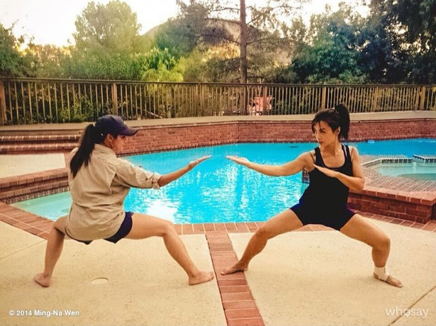 Training with Stunt Double, Samantha Jo