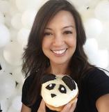 Ming-Na enjoying some panda donut!