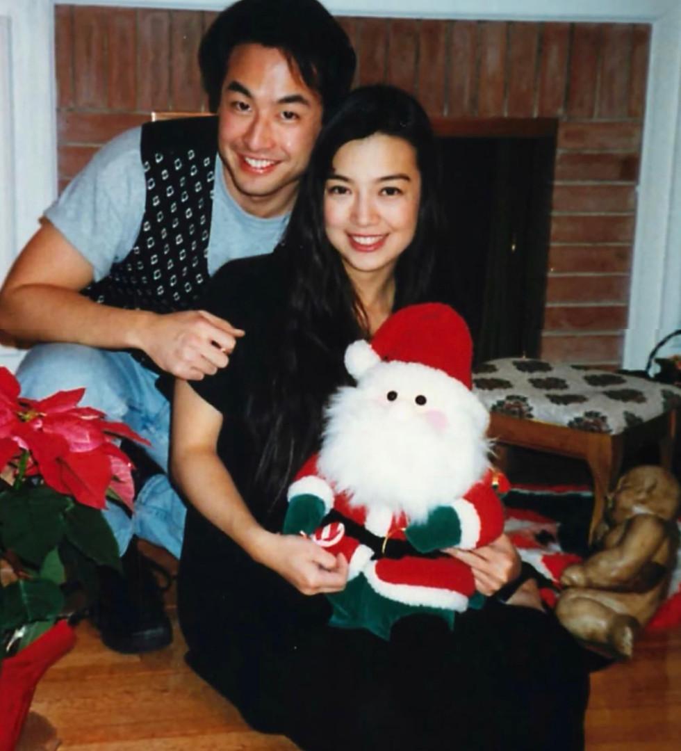 Eric & Ming-Na celebrating Christmas
