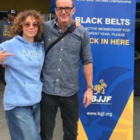 Clark Gregg with Jennifer Grey