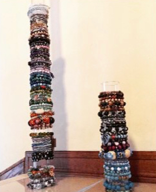 Handmade bracelet stand from Eric for Ming-Na to store all her fanmade bracelets 🥰