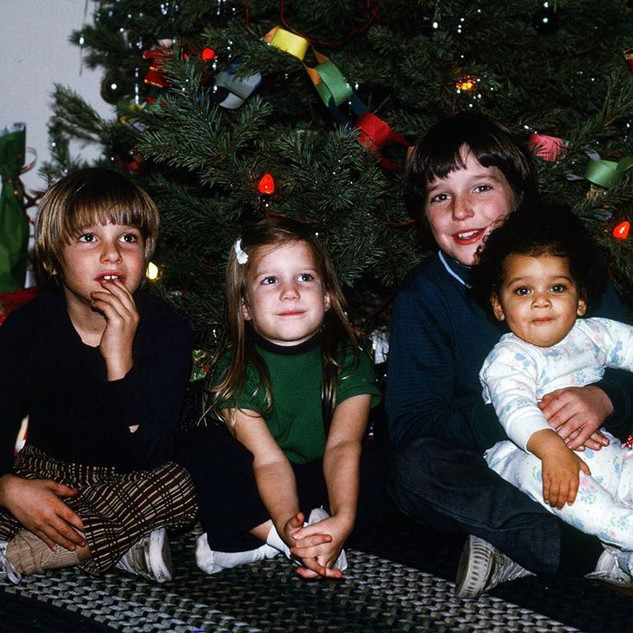 Clark Gregg with siblings