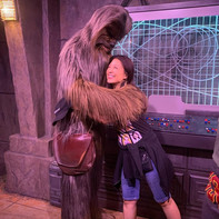 Ming-Na with Wookie