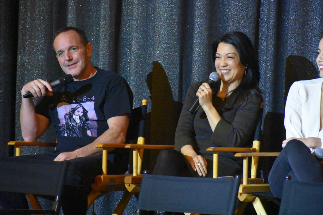 Ming-Na & Clark Gregg at Marvel's Agents of S.H.I.E.L.D. 100th Episode Fan Event Panel