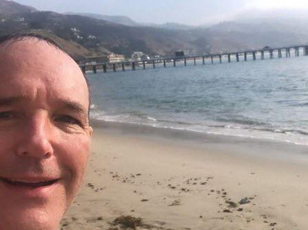 """Clark Gregg """"catches"""" the waves this morning"""