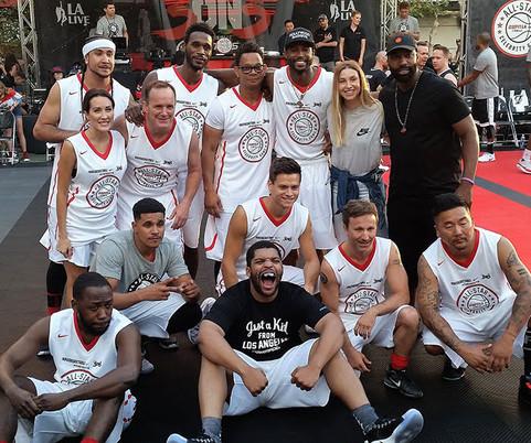 Clark Gregg with his basketball team