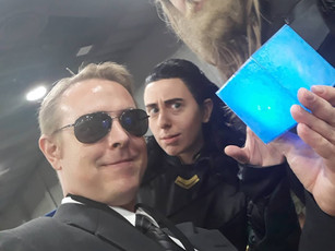 Coulson, Loki and Thor
