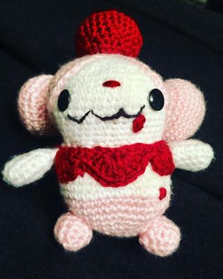Amigurumi Slurpuff handmade by Ming-Na