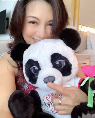 Ming-Na with Bao Bao, her 2020 Valentine's Day gift from Eric.