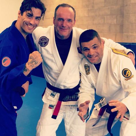 Clark Gregg w/ Trainers Renato & Adam
