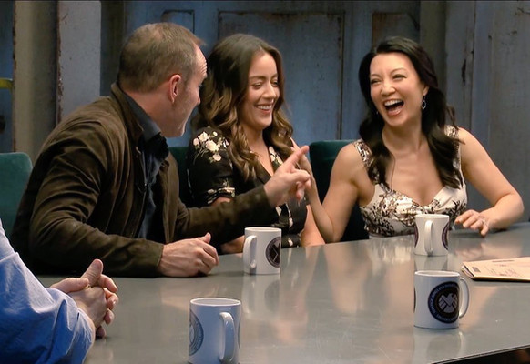 Ming-Na, Chloe & Clark at the Marvel's Agents of S.H.I.E.L.D. 100 - Cast of S.H.I.E.L.D. Roundtable
