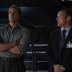 Coulson and Captain America