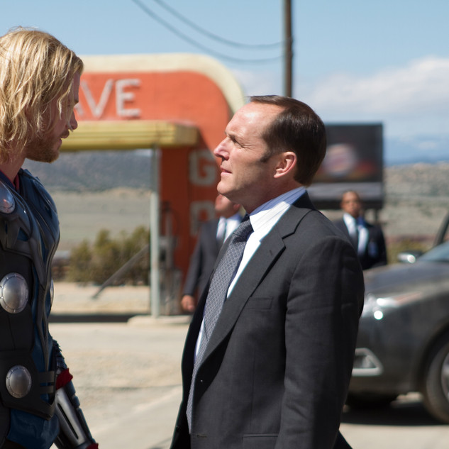 Coulson with Thor
