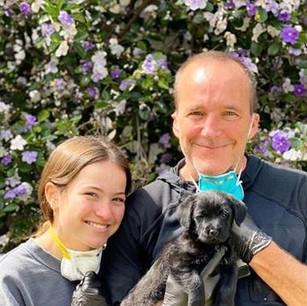 Clark, Stella and new puppy