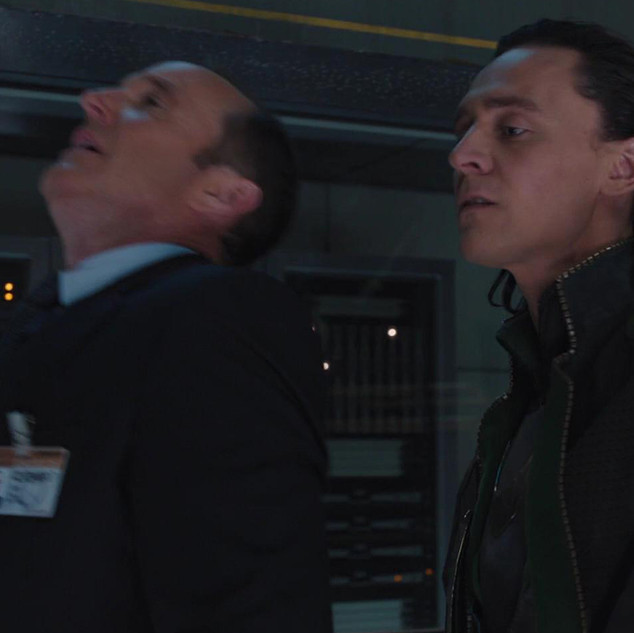 Coulson stabbed by Loki