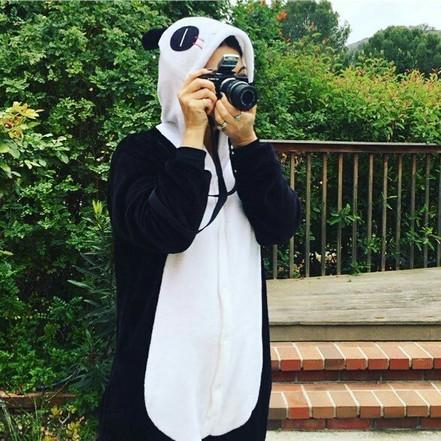 Ming-Na on hiatus, in her panda onesie