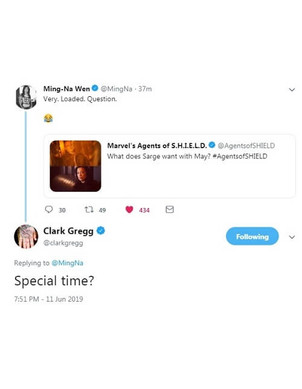 Clark and Ming on Twitter