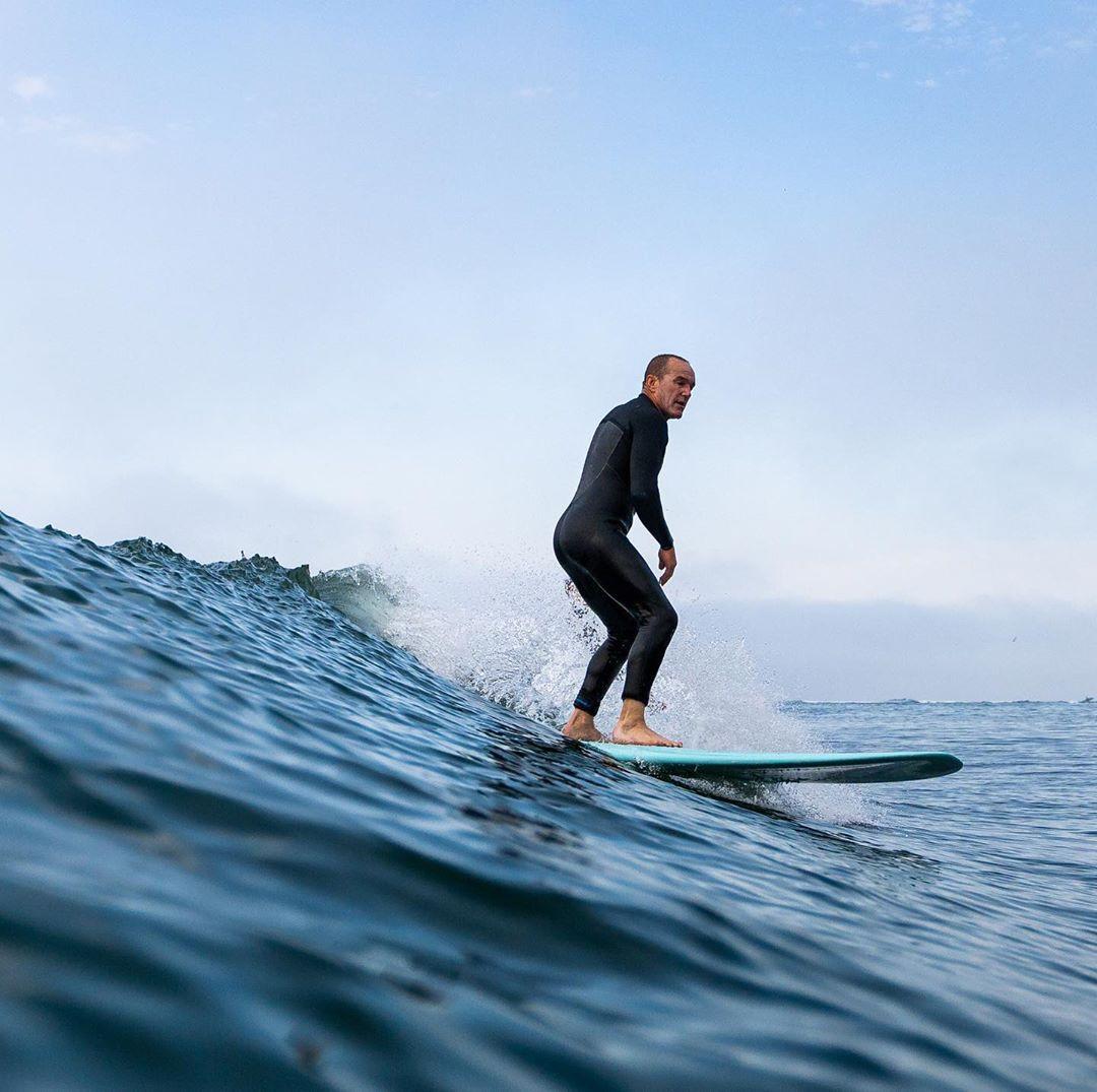 Clark Gregg surfing (2020)